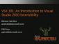 VideoAnIntroductionToVisualStudio2010Extensibility