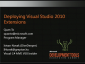 VideoDeployingVisualStudio2010Extensions