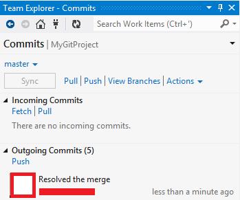 TeamExplorerGitCommits