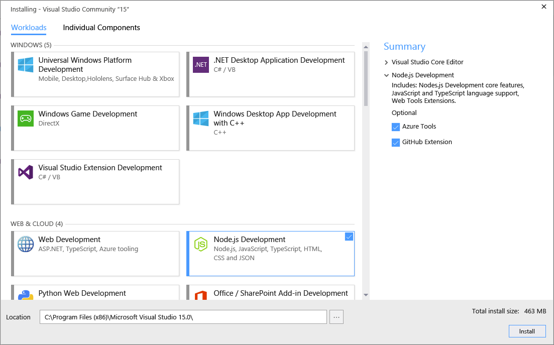 New-Visual-Studio-Installer