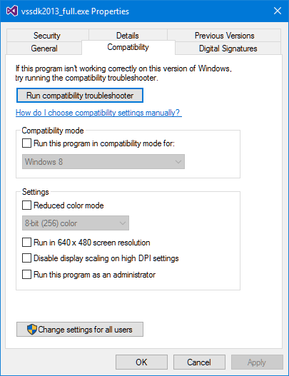 VS2013SDKCompatibility