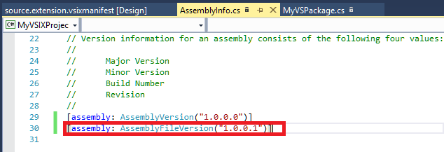 FileVersionAssemblyInfo