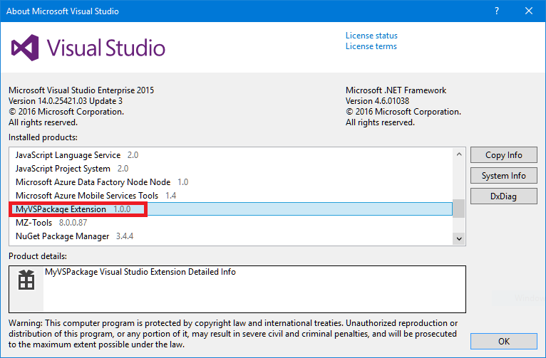 The four versions of a Visual Studio package | Visual Studio