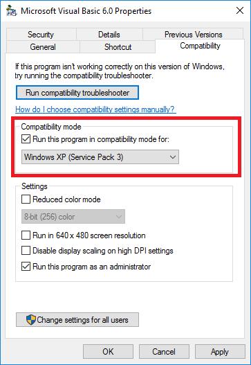 windowsxpcompatibility