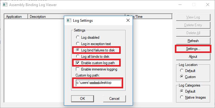 assemblybindinglogviewersettings