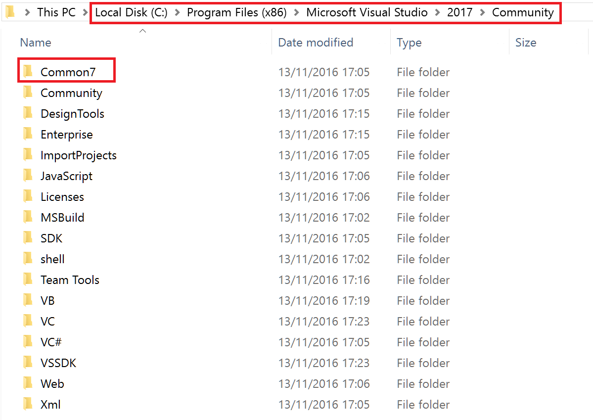 Some implications of the new modular setup of Visual Studio